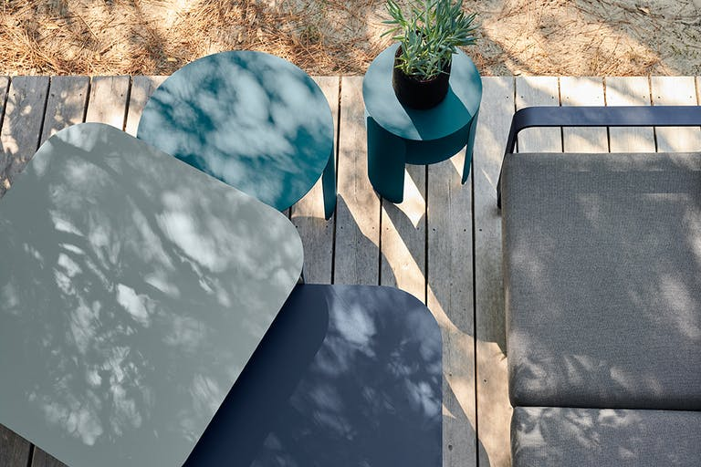 Fermob Outdoor Coffee Tables and Lounge Sofa From Above