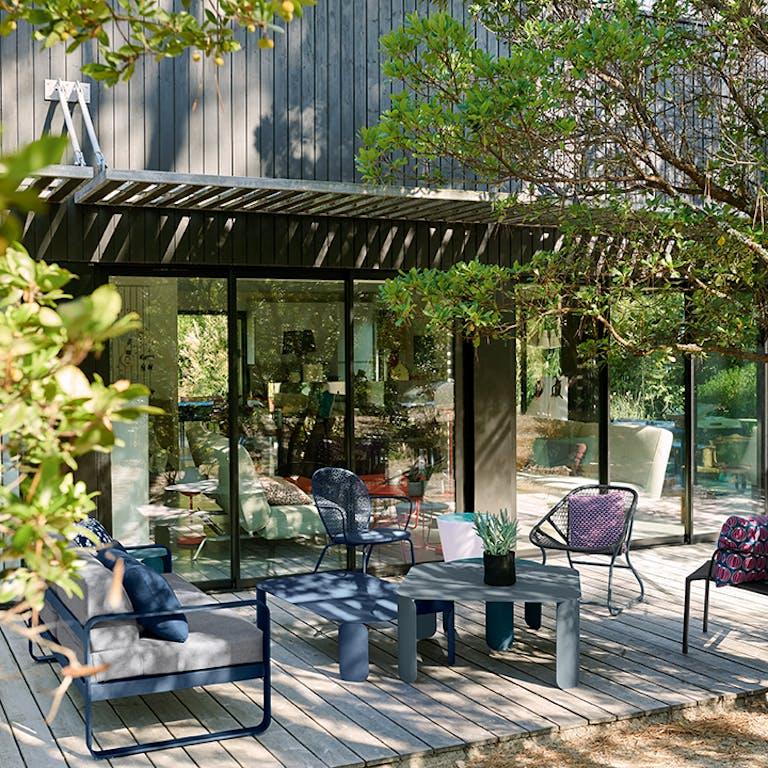 Bellevie 2 Seat Sofa - Flannel Grey Cushions