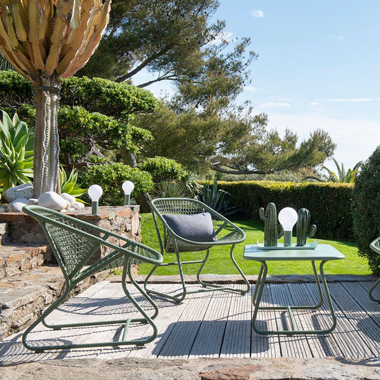 Fermob Sixties Occasional Outdoor Chairs in Cactus