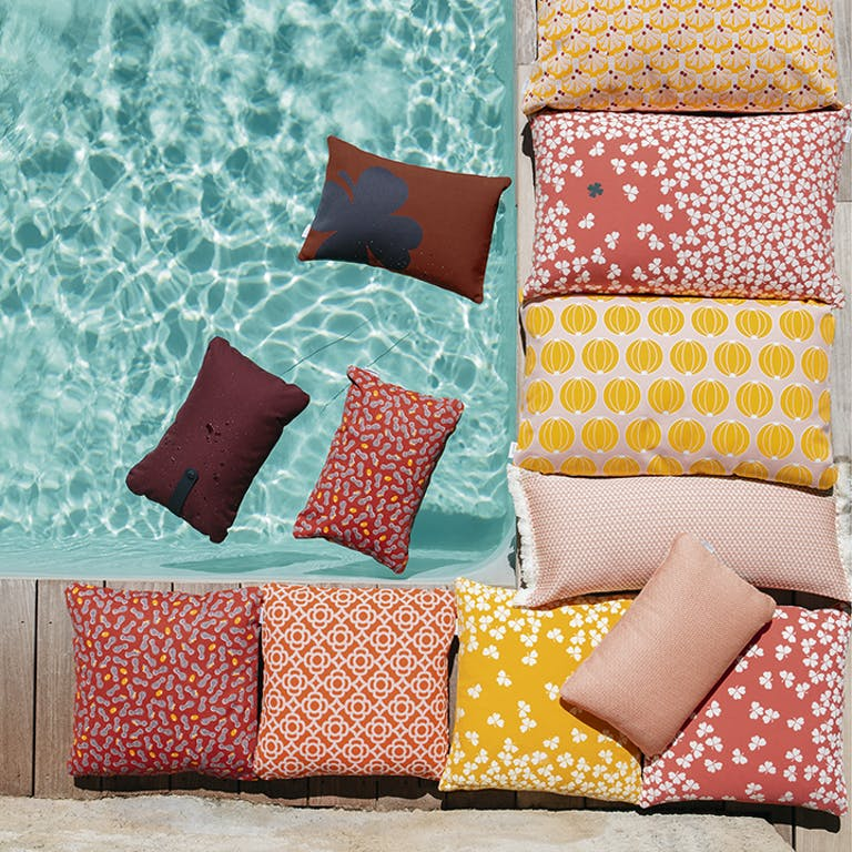 Fermob outdoor cushions around pool