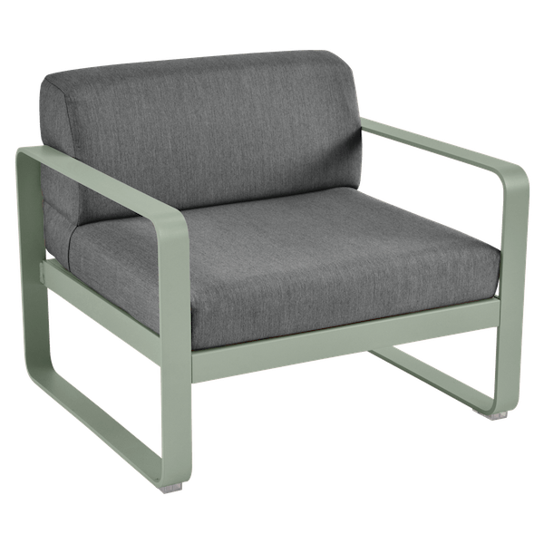 Bellevie Armchair - Graphite Cushions in Cactus