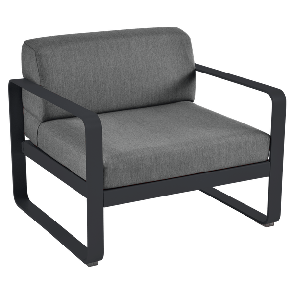 Bellevie Armchair - Graphite Cushions in Anthracite