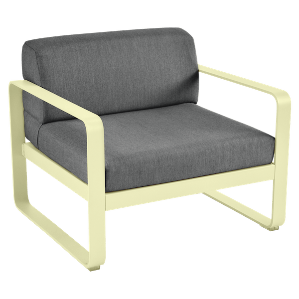 Bellevie Armchair - Graphite Cushions in Frosted Lemon