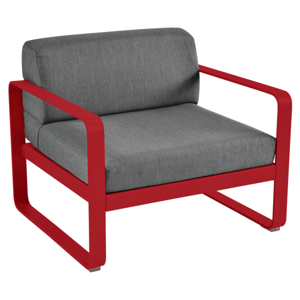 Bellevie Armchair - Graphite Cushions in Poppy