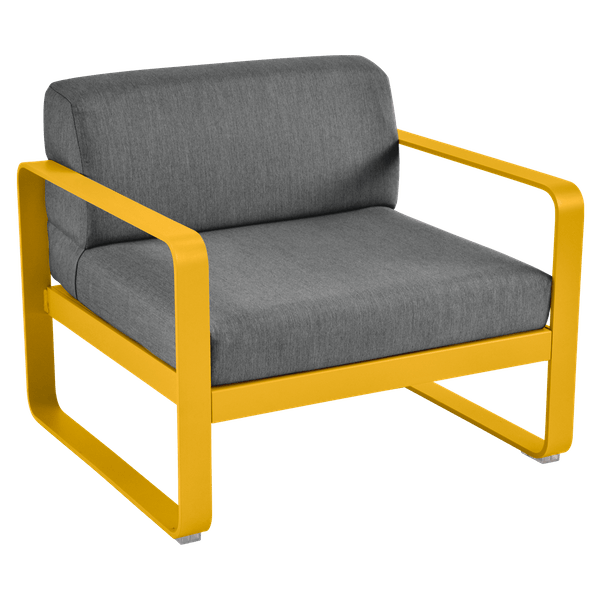 Bellevie Armchair - Graphite Cushions in Honey