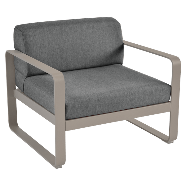 Bellevie Armchair - Graphite Cushions in Nutmeg