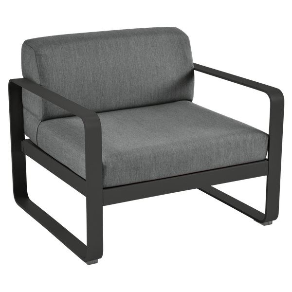 Bellevie Armchair - Graphite Cushions in Liquorice