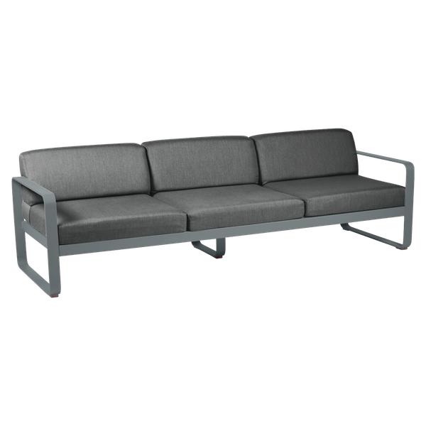 Bellevie 3 Seat Sofa - Graphite Cushions in Storm Grey