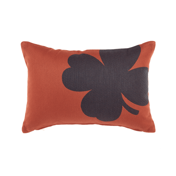 Fermob Trefle Cushion 44 X 30cm in Red Ochre