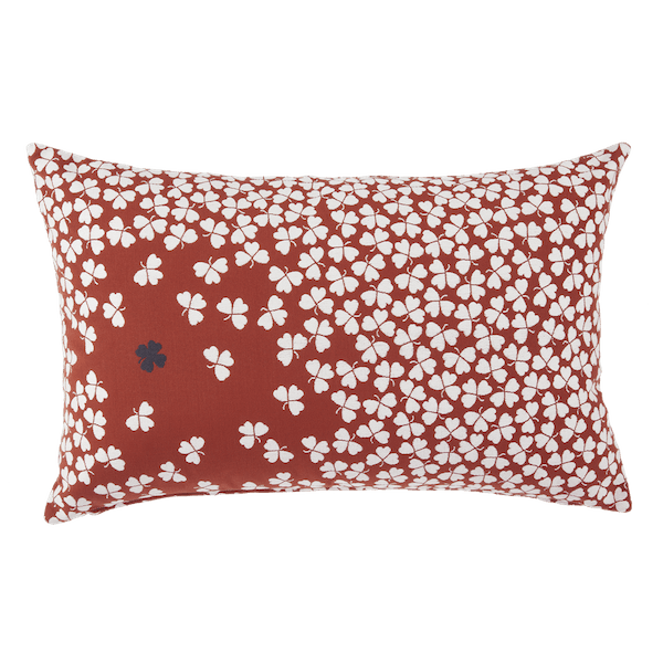 Fermob Trefle Cushion - 68 x 44cm in Red Ochre