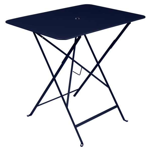 Fermob Bistro Table Rectangle 77 x 57cm in Deep Blue