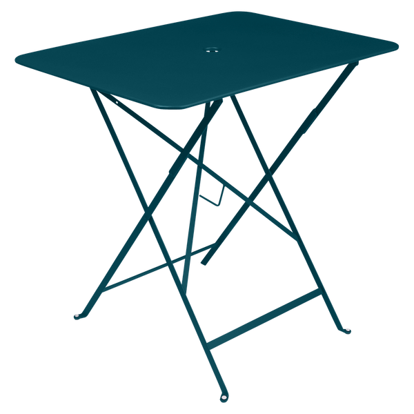 Fermob Bistro Table Rectangle 77 x 57cm in Acapulco Blue