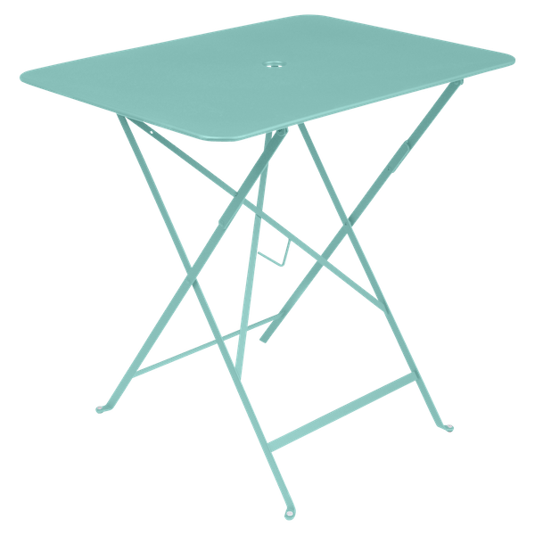 Fermob Bistro Table Rectangle 77 x 57cm in Lagoon Blue