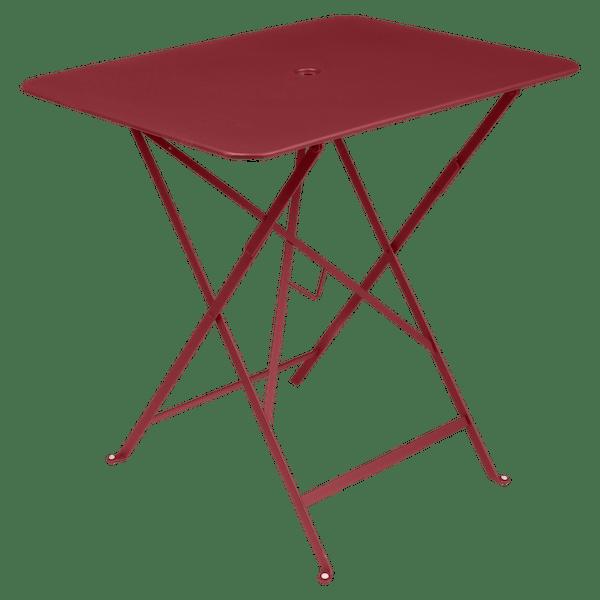 Fermob Bistro Table Rectangle 77 x 57cm in Chilli