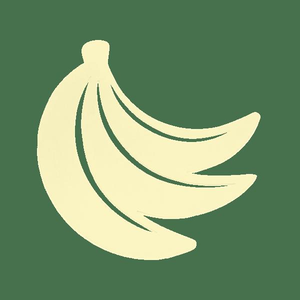 Banane Trivet in Frosted Lemon