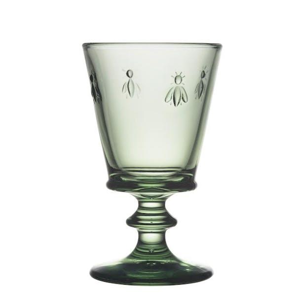 La Rochere Bee Wine Glass - Coloured in LR Provence Green