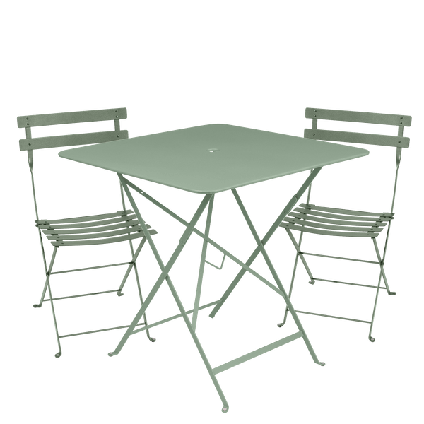 Fermob Bistro Set - 71cm Table and 2 Chairs in Cactus