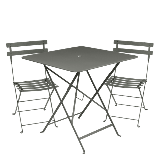 Fermob Bistro Set - 71cm Table and 2 Chairs in Rosemary