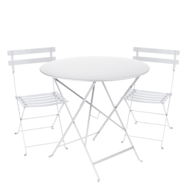Fermob Bistro Set - 77cm Table and 2 Chairs in Cotton White