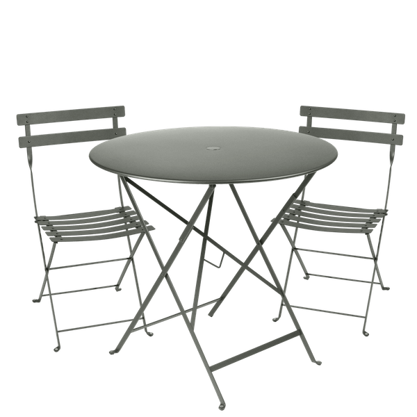 Fermob Bistro Set - 77cm Table and 2 Chairs in Rosemary