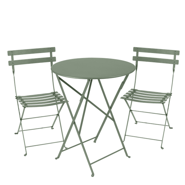 Fermob Bistro Set - 60cm Table and 2 Chairs in Cactus