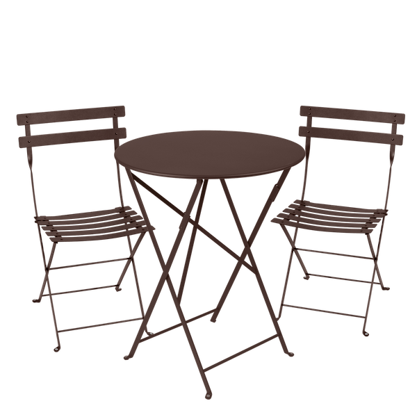 Fermob Bistro Set - 60cm Table and 2 Chairs in Russet