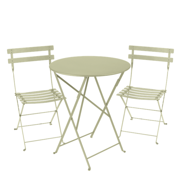 Fermob Bistro Set - 60cm Table and 2 Chairs in Willow Green