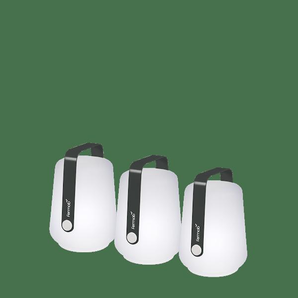Fermob Balad Garden Lamp 12cm - Set 3 in Anthracite