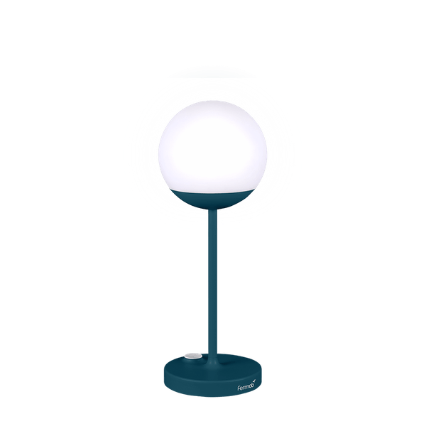 Fermob Mooon! Lamp in Acapulco Blue