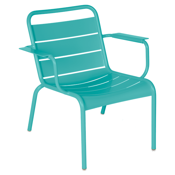 Luxembourg Lounge Armchair in Lagoon Blue