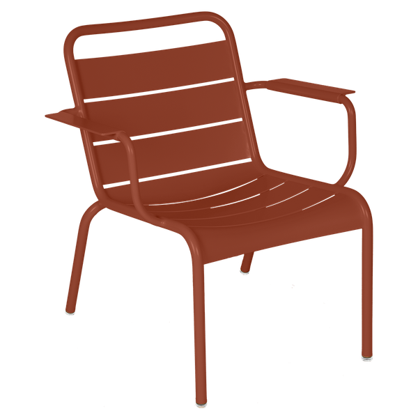 Luxembourg Lounge Armchair in Red Ochre