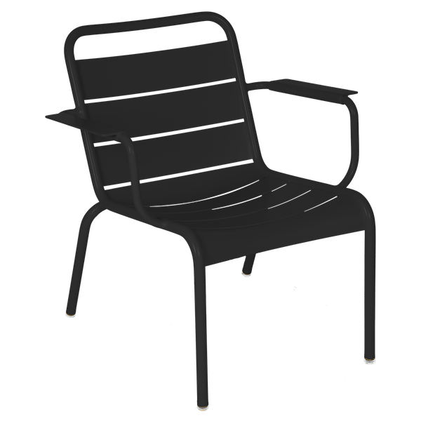 Luxembourg Lounge Armchair in Liquorice