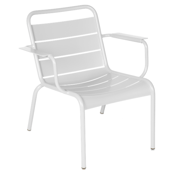 Luxembourg Lounge Armchair in Cotton White