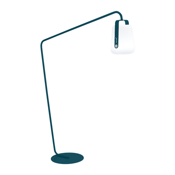 Fermob Balad Garden Lamp Offset Stand in Acapulco Blue