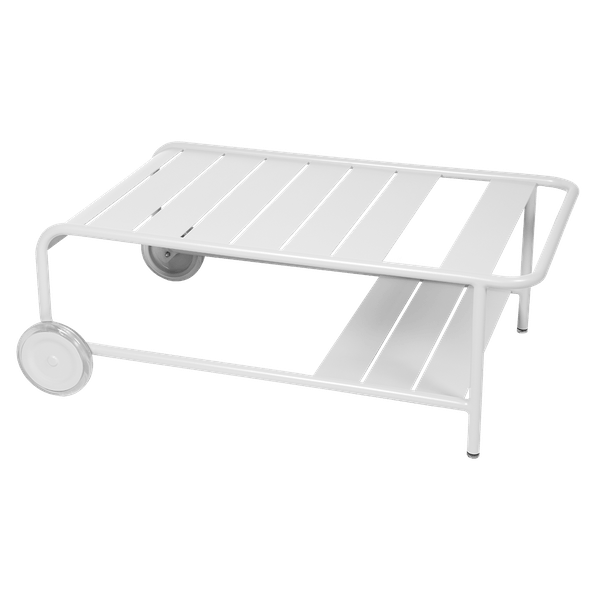Luxembourg Low Table with Wheels in Cotton White