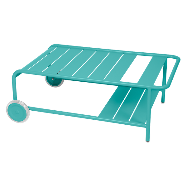 Luxembourg Low Table with Wheels in Lagoon Blue