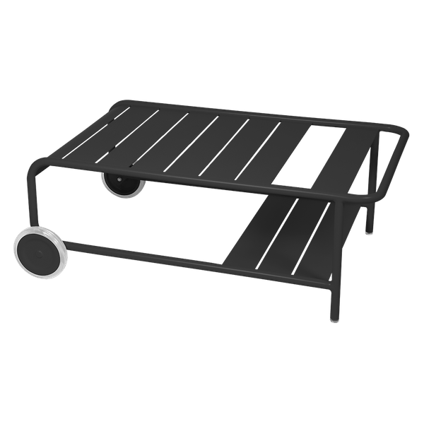 Luxembourg Low Table with Wheels in Anthracite