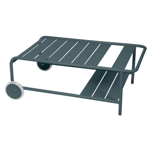 Luxembourg Low Table with Wheels in Storm Grey
