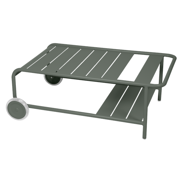 Luxembourg Low Table with Wheels in Rosemary