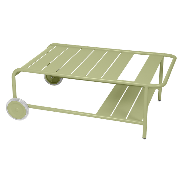 Luxembourg Low Table with Wheels in Willow Green
