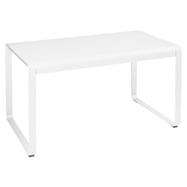 Fermob Bellevie Outdoor Dining Table 140 x 80cm in Cotton White