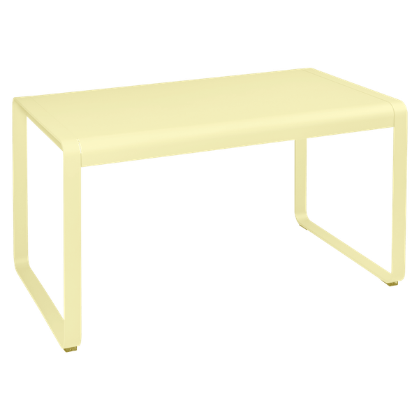 Fermob Bellevie Outdoor Dining Table 140 x 80cm in Frosted Lemon