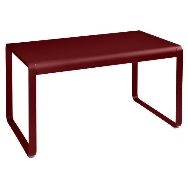 Fermob Bellevie Outdoor Dining Table 140 x 80cm in Chilli