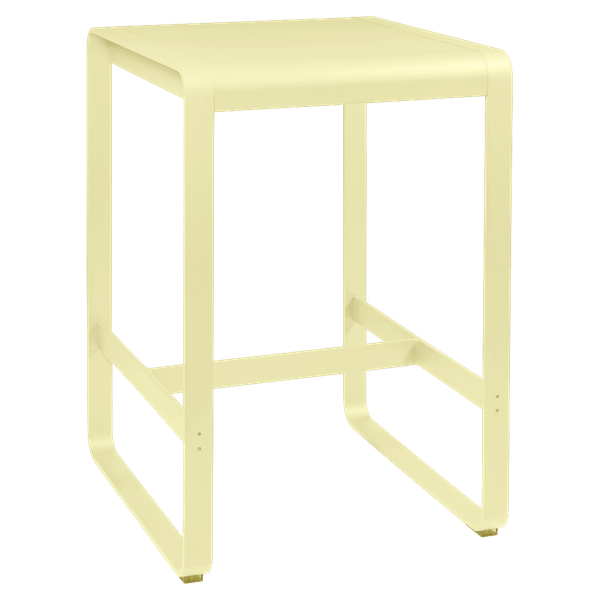 Fermob Bellevie High Bar Table 74 x 80cm in Frosted Lemon