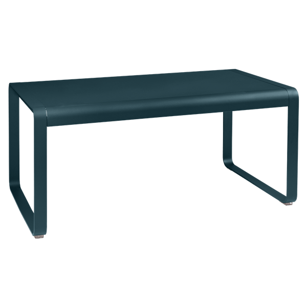 Fermob Bellevie Mid Height Table 140 x 80cm in Acapulco Blue