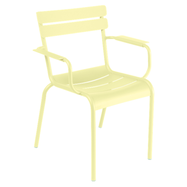 Fermob Luxembourg Armchair in Frosted Lemon