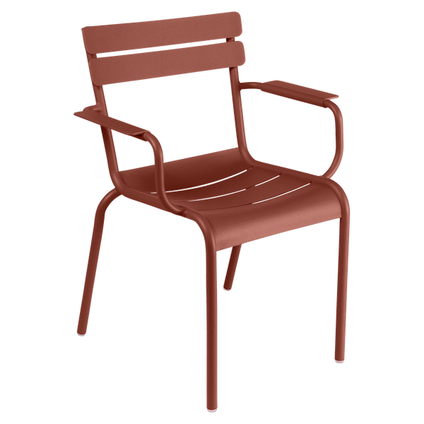 Fermob Luxembourg Armchair in Red Ochre