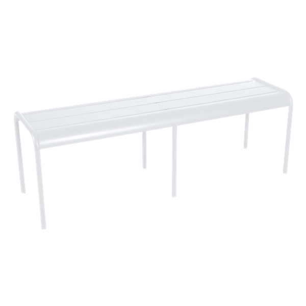 Fermob Luxembourg Bench in Cotton White