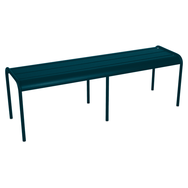 Fermob Luxembourg Bench in Acapulco Blue