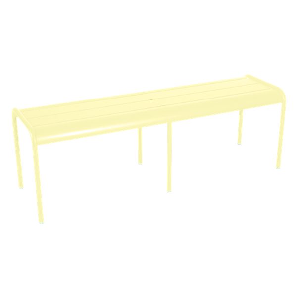 Fermob Luxembourg Bench in Frosted Lemon